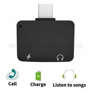 2 in 1 USB C to 3.5mm Audio Adapter Premium Aluminum Converter