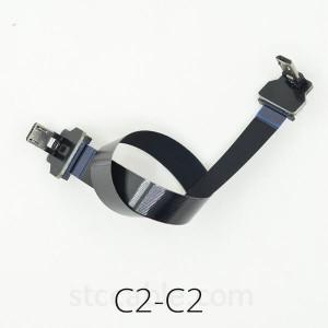 Micro USB up angle to Micro USB up angle FFC FPV Flat Slim Thin flexible FPC Cable