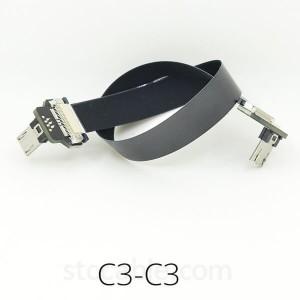 Micro USB Down angle to Micro USB Down angle FFC FPV Flat Slim Thin flexible FPC Cable