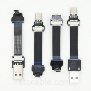 Micro Usb Up Angle To Usb 3 1 Type C Male Ffc Fpv Flat