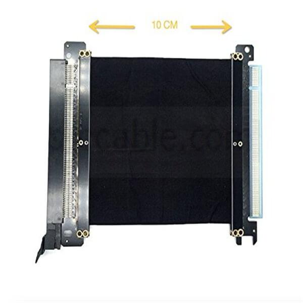 PCI-E 3.0 Gaming PC Modding X16 Riser Cable – Black 10cm