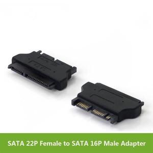 SATA 22P Зан ба Micro SATA 16P Мард адаптер