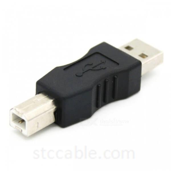 USB2.0 A Type Male to USB B Male Plug Adapter