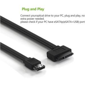 Power Esata eSATAp to Slim Sata 7+6 13Pin Cable