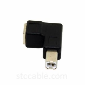 Right Angled 90 Дараҷа Намуди USB 2.0 B Мард ба Зан Дароз адаптер