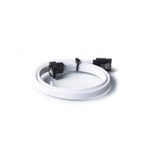 SATA 3.0 III SATA3 7pin Data Cable 6Gbs Right Angle Cables White nylon