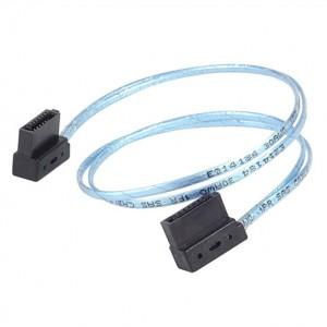 SilverStone CP11 SATA Cable 90 Degree Low Profile 300mm, Blue