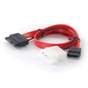 Slim SATA 13 pin(7P+6P) to 7pin + Power cable