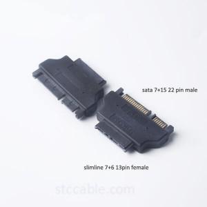 SATA 22pin Male to Slim 13pin Female Adapter