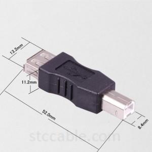 USB 2.0 A навъи занон ба намуди USB B Мард BM адаптер чопгар сканер