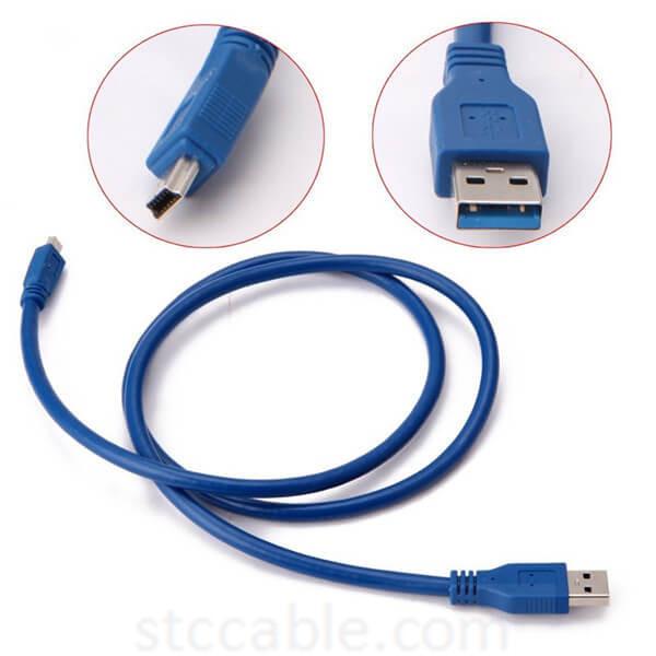 USB 3.0 A Male AM to Mini USB 3.0 Mini 10pin Male USB3.0 Cable 0.3m 0.6m 1m 1.5m 3m 5m 1ft 2ft 3ft 5ft 10ft