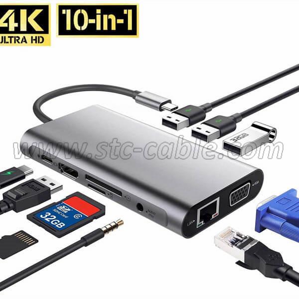 USB C Hub 10 in 1 Adapter