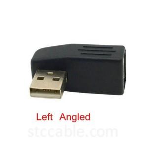 Чап & кунҷи рост USB 2.0 Мард ба Зан Дароз адаптер