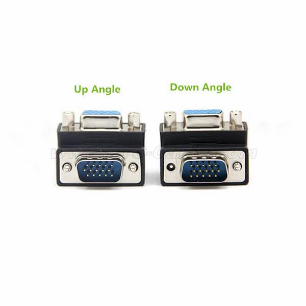 Up or Down Angled 90 Degree VGA Monitor Adapter