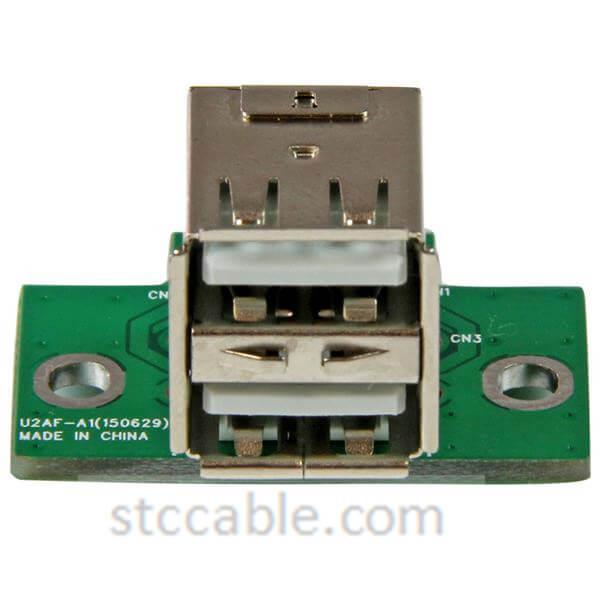 2 Port USB Motherboard Header Adapter