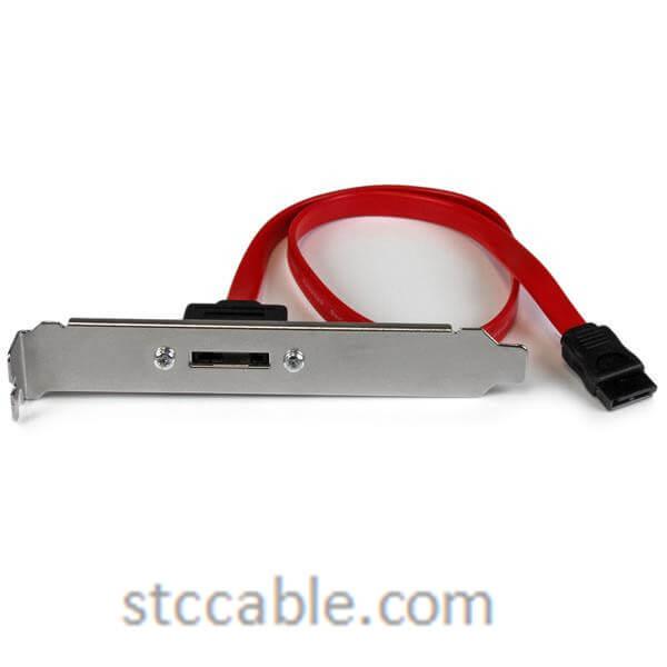 18in 1 Port SATA to eSATA Plate Adapter