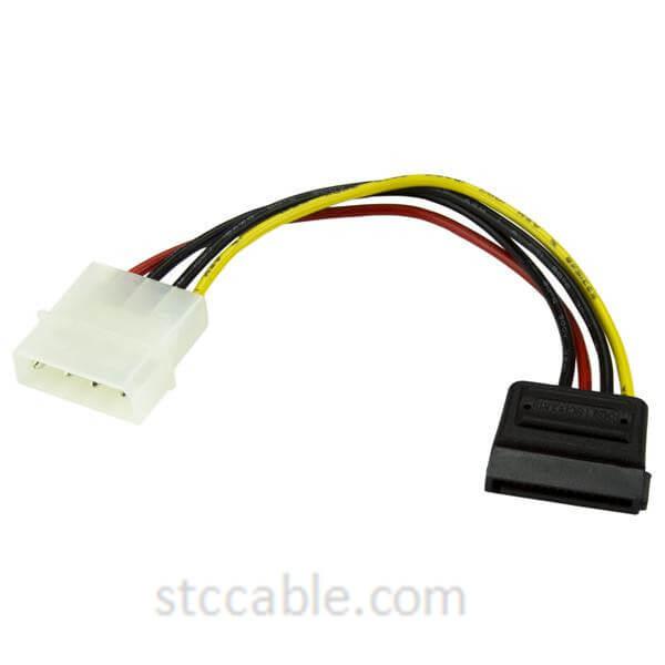 6in 4 Pin Molex ба SATA Ҳокимият Сими василаи