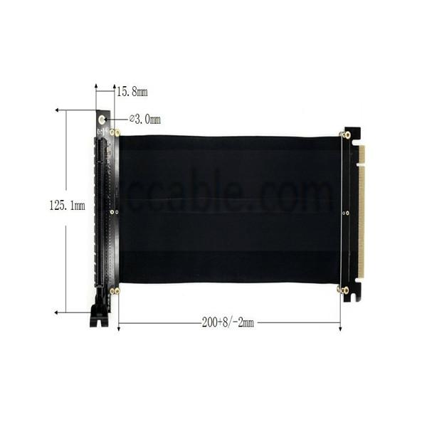 PCI-E 3.0 Gaming PC Modding X16 Riser Cable – Black 20cm