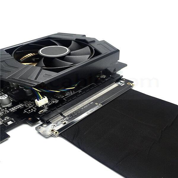 http://www.stc-cable.com/pci-e-3-0-gaming-pc-modding-x16-riser-cable-black-10cm.html