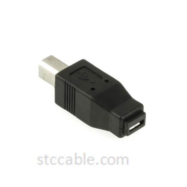 Adapter Micro USB A+B female to USB B male