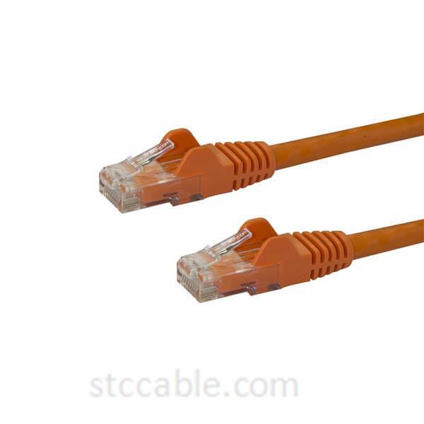 1 ft (0.3m) Snagless Orange Cat 6 Cables